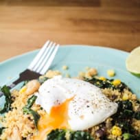 Fragrant Couscous Salad with a Runny Poached Egg