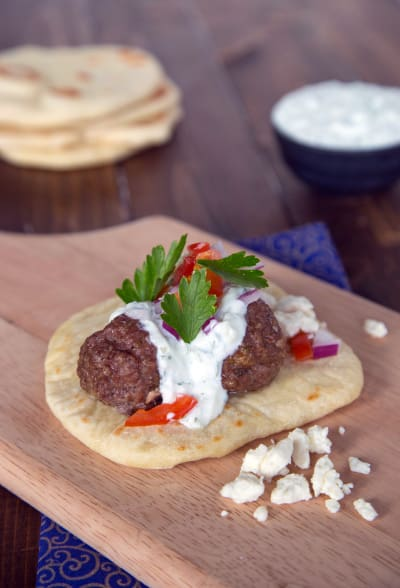 Greek Gyros with Meatballs Picture