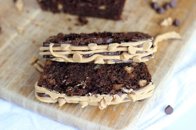 Chocolate Peanut Butter Cup Banana Bread Image