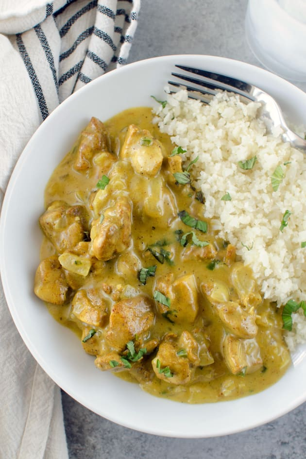 Paleo Basil Chicken Coconut Curry Image