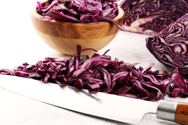 Red cabbage slaw image