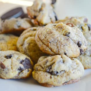 Chocolate chip oreo cookies photo
