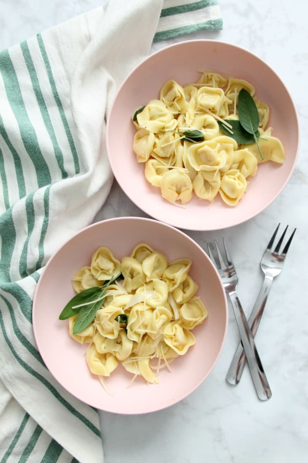 Tortellini with Butter and Sage Pic