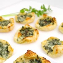 Kale + Gruyère Puff Pastry Tartlets