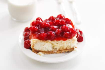 Cherry Cheesecake Poke Cake