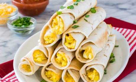 Green Chile Egg Taquitos Recipe