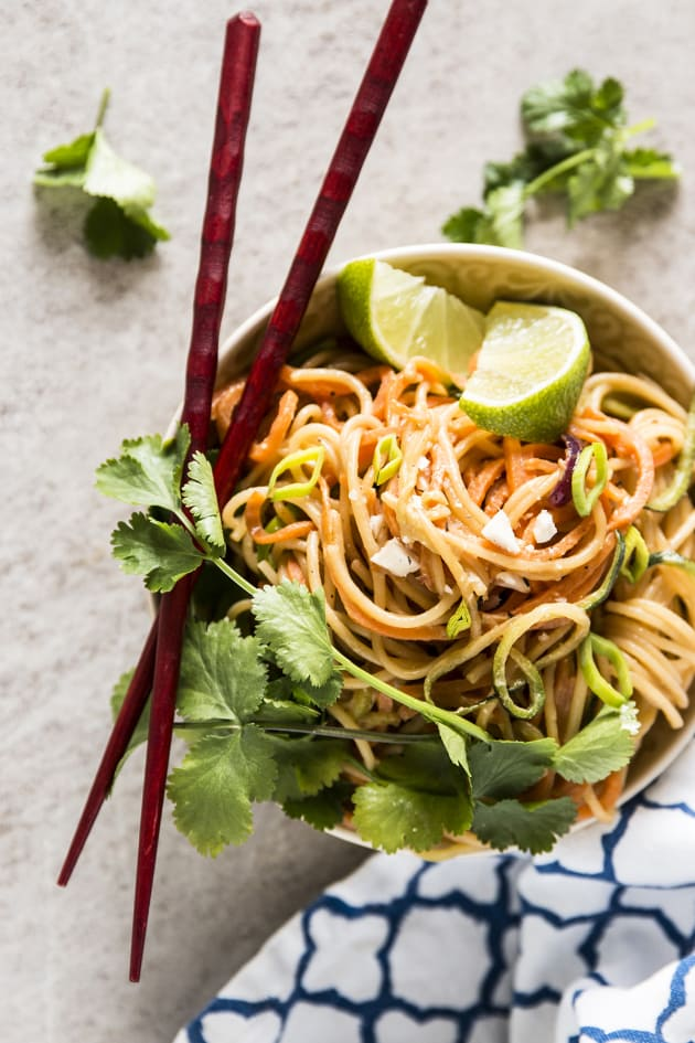 Thai Peanut Noodles with Spiralized Vegetables Pic