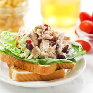 Lighter chicken salad photo