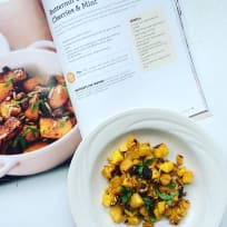Butternut Squash with Dried Cherries & Mint