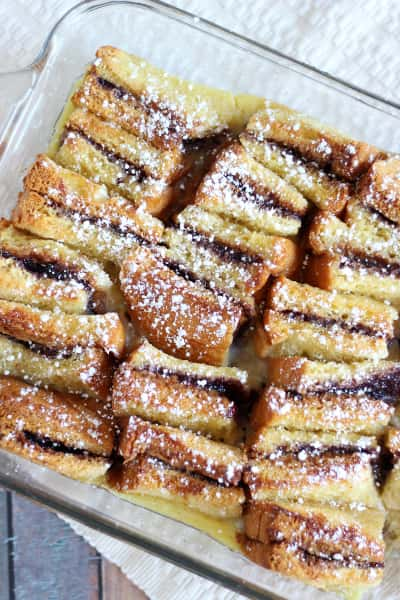 Peanut Butter and Jelly Bread Pudding Pic