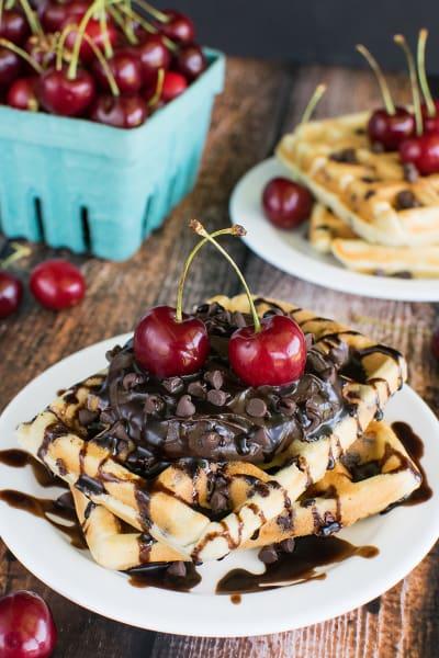 Cherry Chocolate Chip Waffles Pic