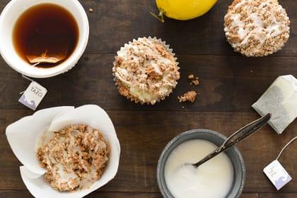 Lemon Earl Grey Streusel Muffins