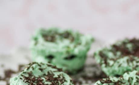 Mint Chocolate Ice Box Cupcakes Image