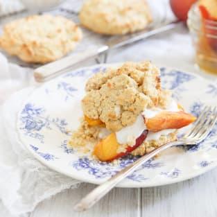 Paleo peach shortcake photo