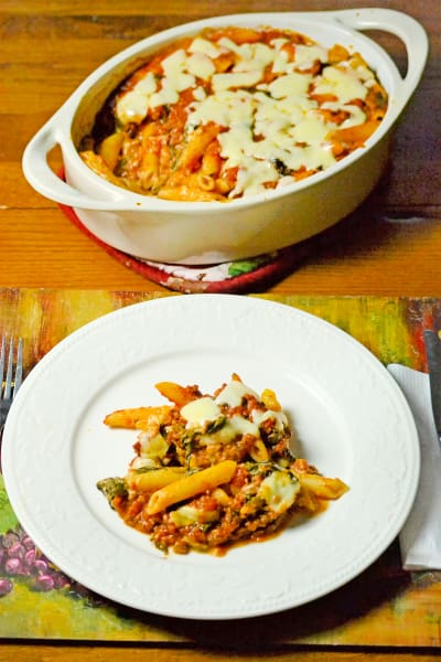 Baked Ziti with Spinach Picture