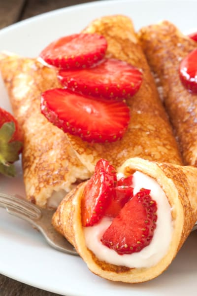 Gluten Free Strawberry Cheesecake Pancakes Picture