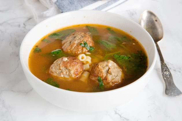 Italian Meatball Soup Photo