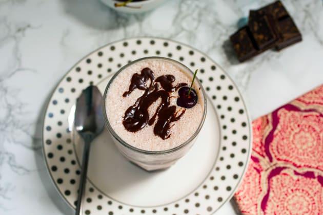 Cherry Bourbon Vanilla Milkshakes Image