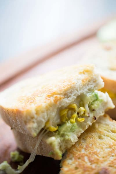Avocado Grilled Cheese with Roasted Corn Image