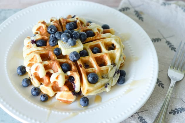 Gluten Free Blueberry Waffles Photo
