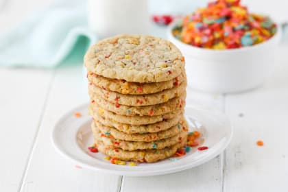 Fruity Pebbles Sugar Cookies
