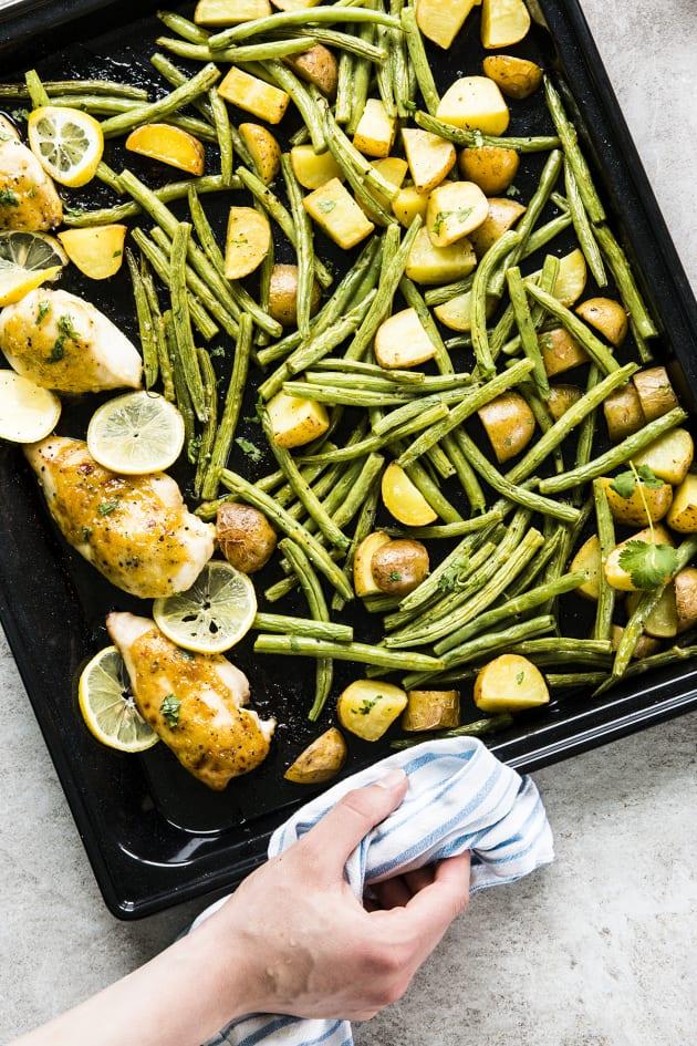Sheet Pan Honey Garlic Lemon Chicken Image