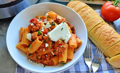 Instant Pot Sausage & Rigatoni with Goat Cheese Recipe