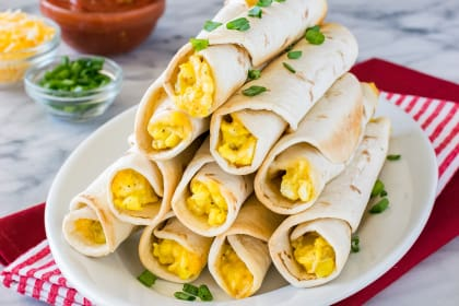 Green Chile Egg Taquitos