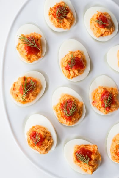 Harissa Goat Cheese Deviled Eggs Picture