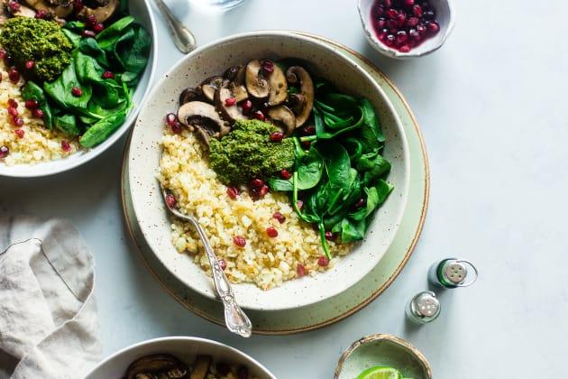 Detox Cauliflower Mushroom Bowls Photo