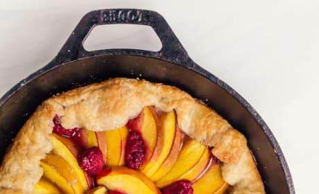 Peach Raspberry Galette Pic