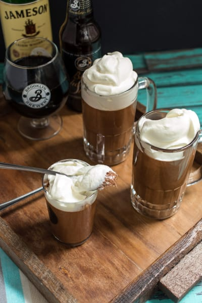 Chocolate Stout Mousse with Whiskey Cream Pic