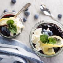 Lemon Blueberry No Bake Cheesecakes