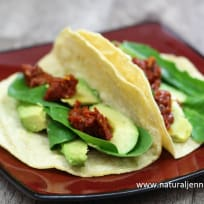 Avocado Tacos with Sundried Tomato Compote