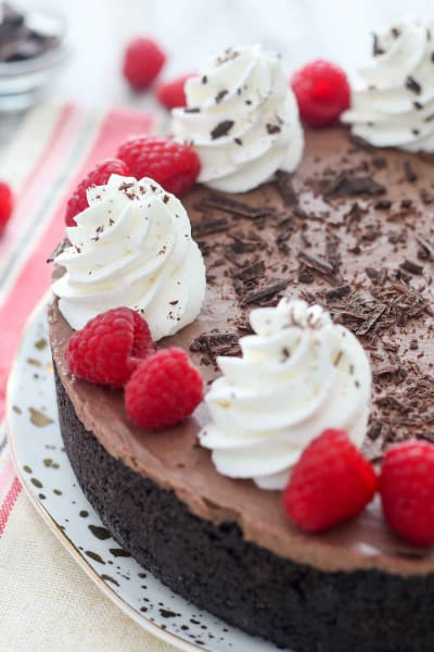 No-Bake Chocolate Raspberry Cheesecake Image