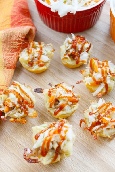 BBQ Shredded Pork Cups with Cheese Image