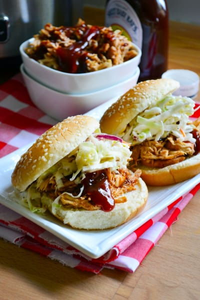 Slow Cooker BBQ Chicken Sandwiches Image