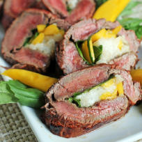 Grilled Stuffed Flank Steak Recipe