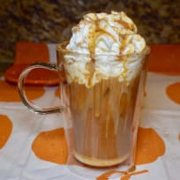 Pumpkin Praline Vanilla Iced Coffee