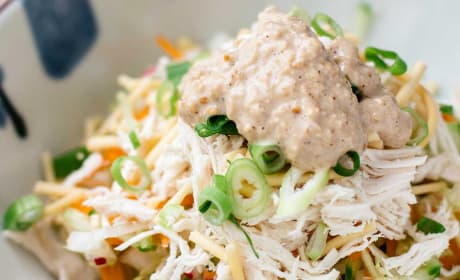 Asian Chicken Salad with Sesame Dressing Recipe