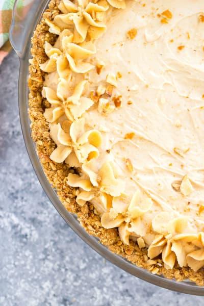 Peanut Butter Pie with Pretzel Crust Image