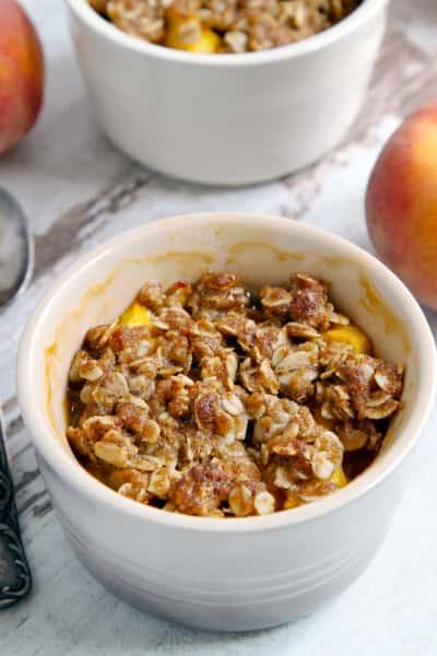 Peach Amaretto Crumbles Picture