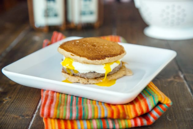 Pancake Breakfast Sandwiches Photo