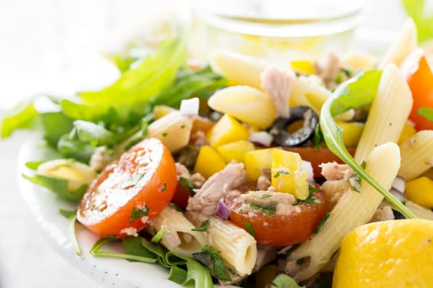 Mediterranean Tuna Pasta Salad Photo
