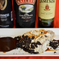 No Bake Oreo Car Bomb Pie