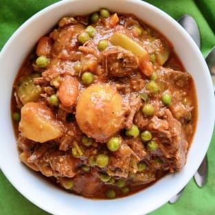 Instant pot beef stew phot