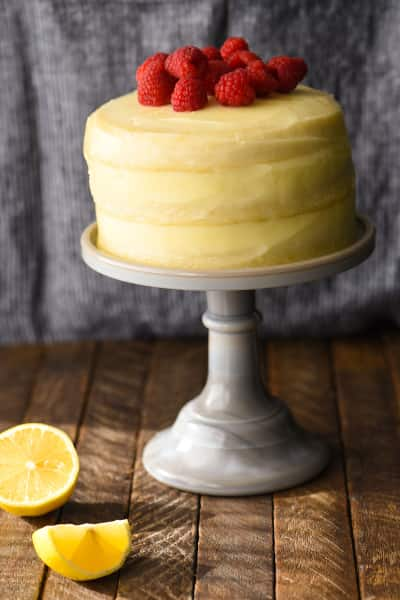 Lemon Raspberry Cake for Two Image