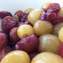 Red Wine Honey Fried Grapes with Sea Salt