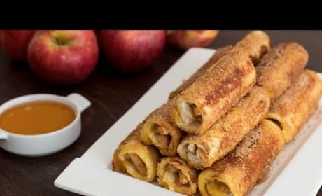 How to Make Apple French Toast Roll-Ups