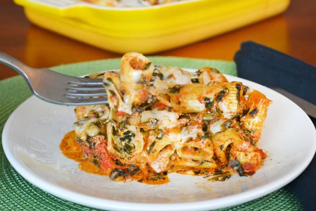 Baked Spinach Rigatoni Image